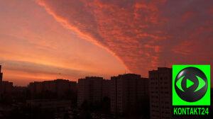 Czerwone niebo nad Jelonkami