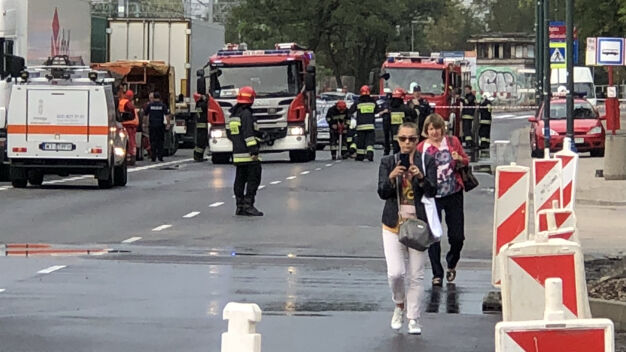 Ewakuacja przedszkola w Ursusie. Koparka uszkodziła gazociąg