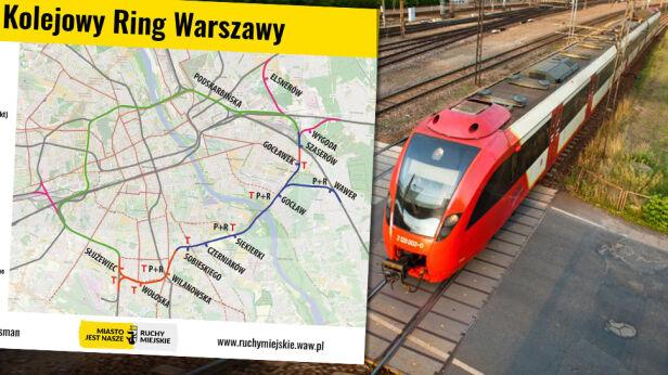 Ruchy miejskie zapowiadają budowę ringu kolejowego Ruchy Miejskie / SKM