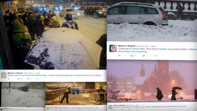 Na Białorusi, po ataku zimy, <br />450 miejscowości nie ma prądu