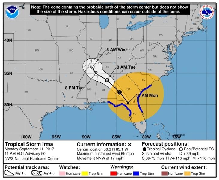 Sprawdź, gdzie teraz jest i dokąd zmierza Irma