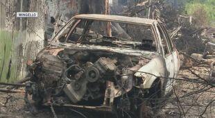 Zniszczenia w mieście Wingello