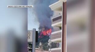 Pali się hotel w tureckim kurorcie